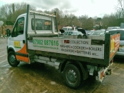 managed waste services tipper truck rear view